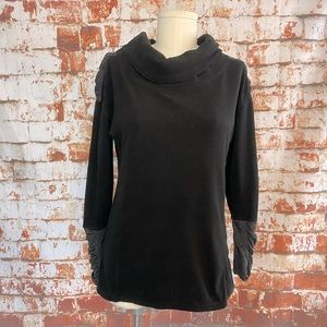 C9 Champion black cowl neck ruched fleece small